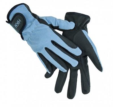 Jezdecké rukavice Special HKM modrá/sv. modrá