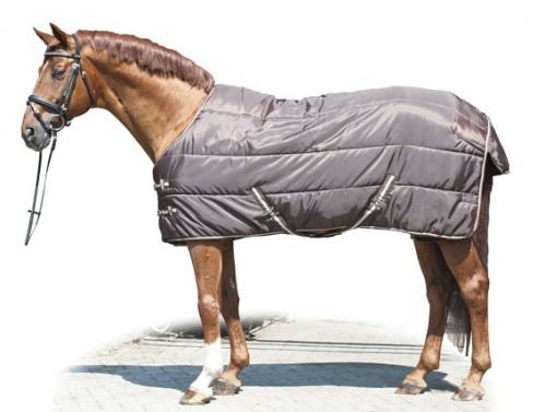 Zimní stájová deka 210D HKM hnědá/béžová