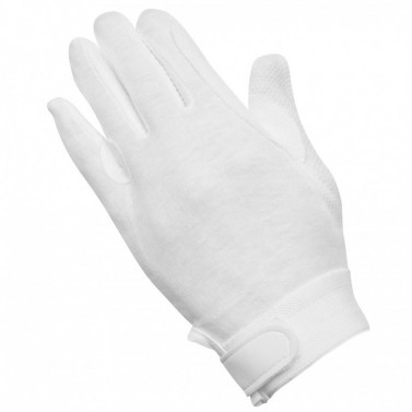 Dětské bavlněné jezdecké rukavice Picot ELT bílá