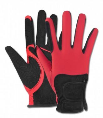 Jezdecké rukavice Metropolitan ELT červená/černá