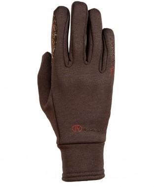 Zimní jezdecké rukavice Warwick Roeckl hnědá
