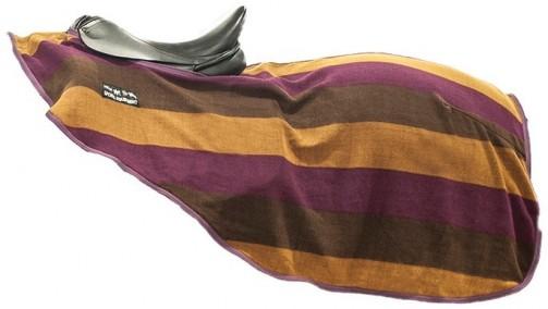 Fleecová bederní odpocovací deka HKM fialová/hnědá