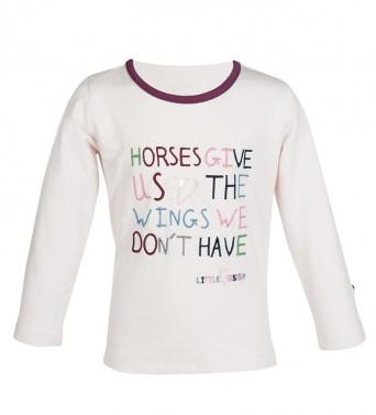 Dívčí tričko s dlouhým rukávem Bonnie Wings HKM růžová