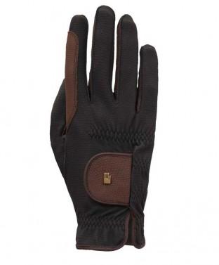 Jezdecké rukavice Malta Roeckl černá/hnědá