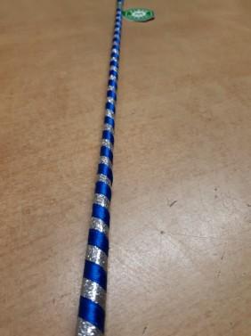 Skokový bič Satin Glitter Fleck modrá