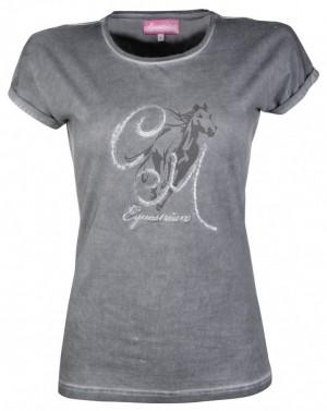Dámské tričko Rimini HKM tmavě šedá