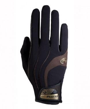 Jezdecké rukavice Malia Roeckl černá/hnědá