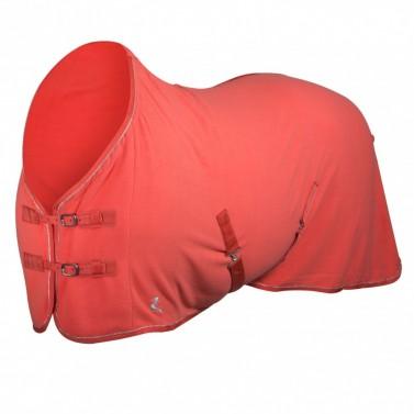 Odpocovací deka Horze růžová/stříbrná