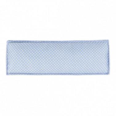 Podložka pro ochranu brady Happy HKM světle modrá s puntíky